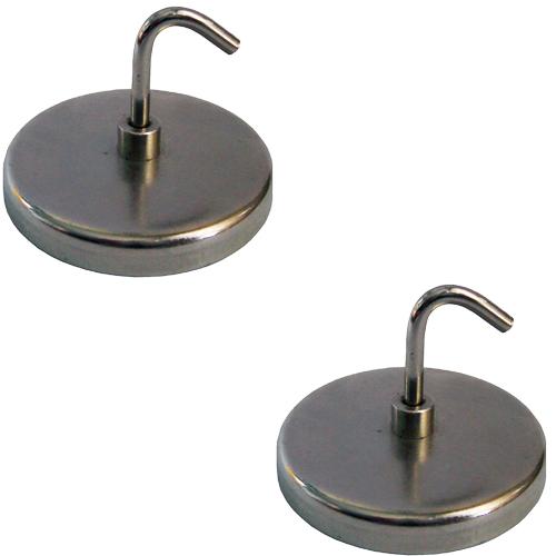 2 x Magnetische Haken Schlüsselanhänger Schraubhaken Winkelhaken ø 50 mm